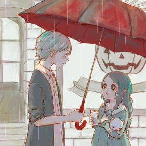 5月お題絵【梅雨・猫・携帯電話】