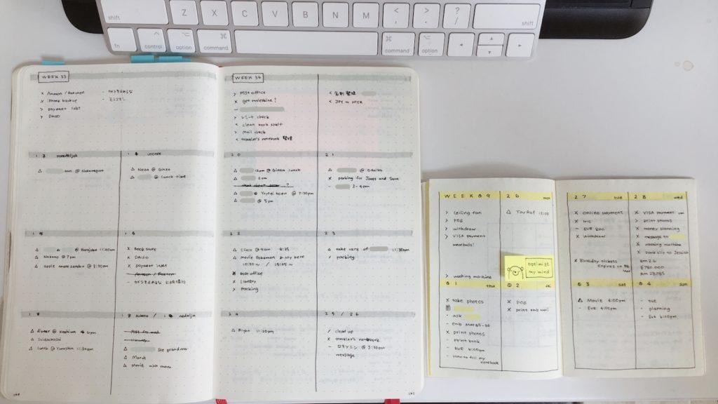 バレットジャーナルノート-サイズ比較